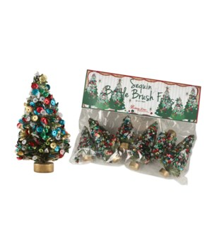 Mini Jolly Bottle Brush Tree S/6
