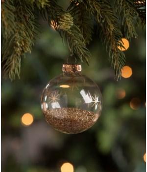Peaceful Glitter Globe Ornament