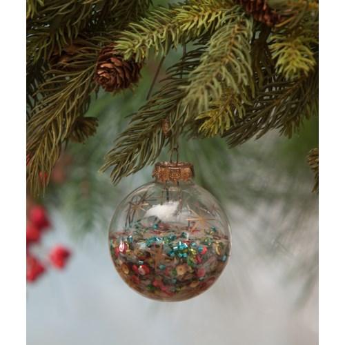Jolly Sequin Globe Ornament