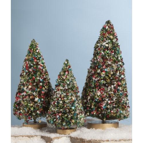 Jolly Sequin Bottle Brush Trees S3