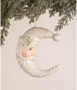 Winter Santa Moon Ornament