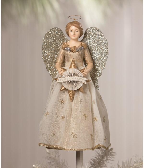 Peace On Earth Angel Tree Topper