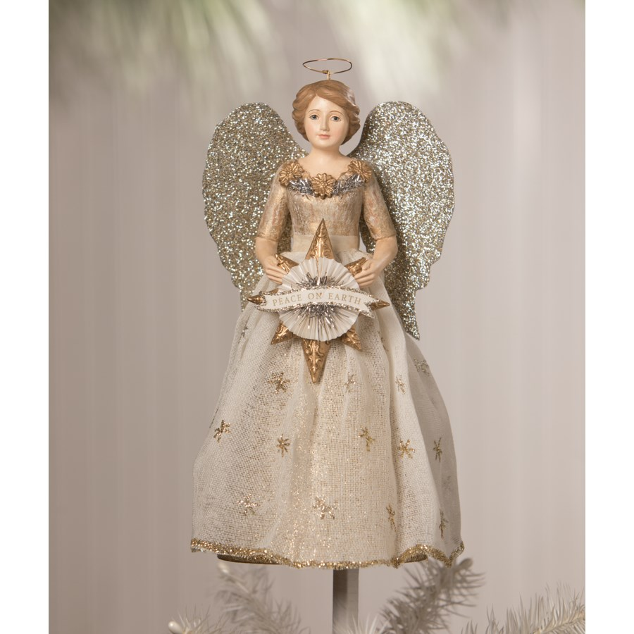 Peace On Earth Angel Tree Topper
