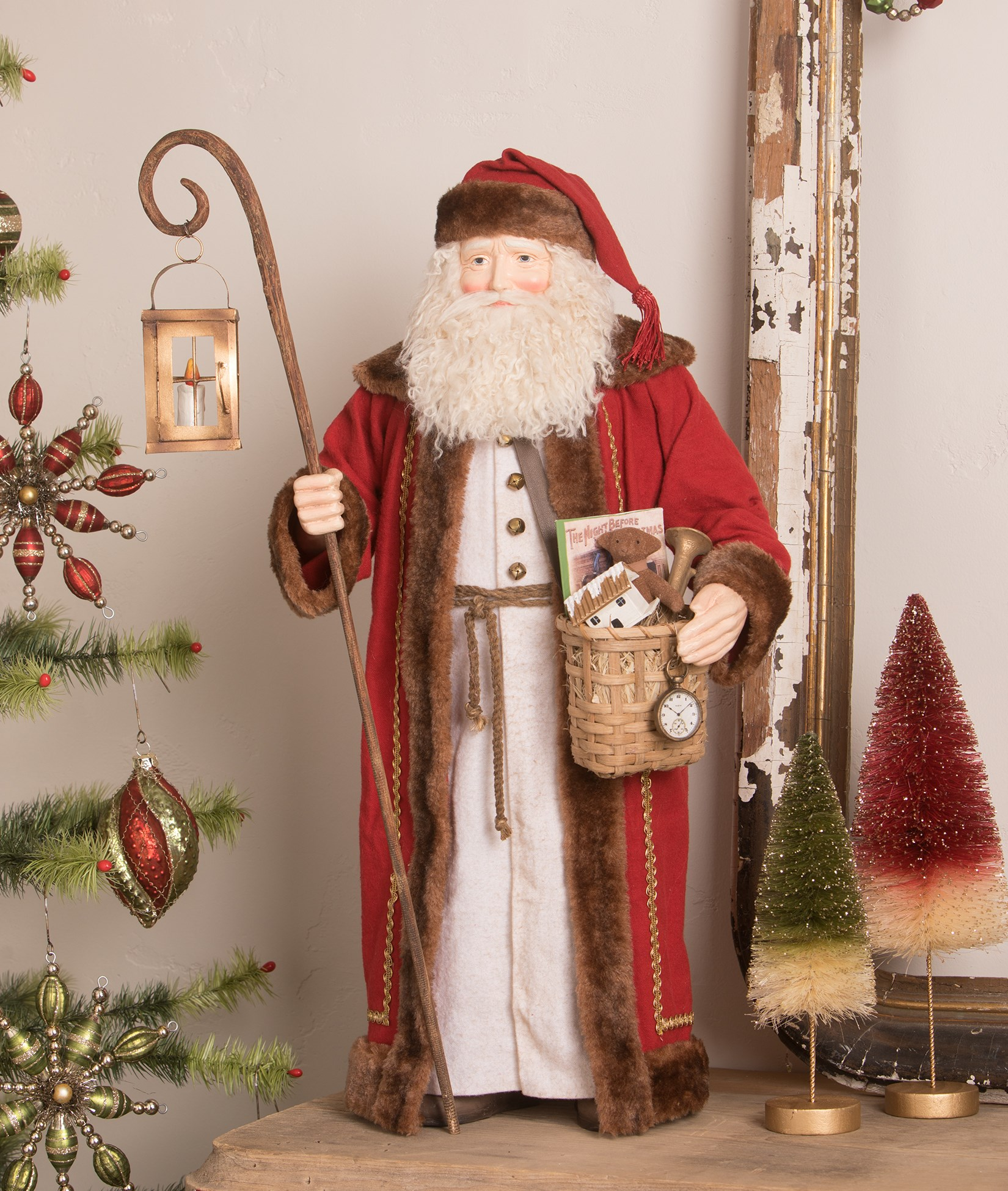 Bethany Lowe Woodland Santa With Children Dummyboard RL7346 New