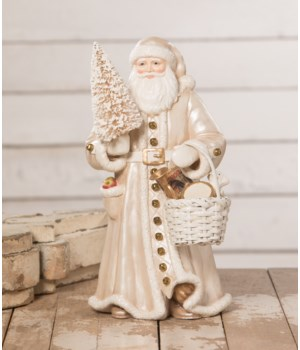 Peaceful Winter Santa with Basket