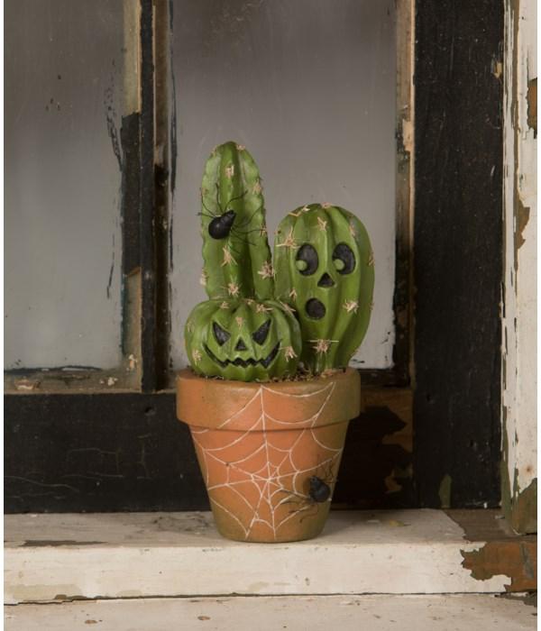 Potted Cacti O'Lantern