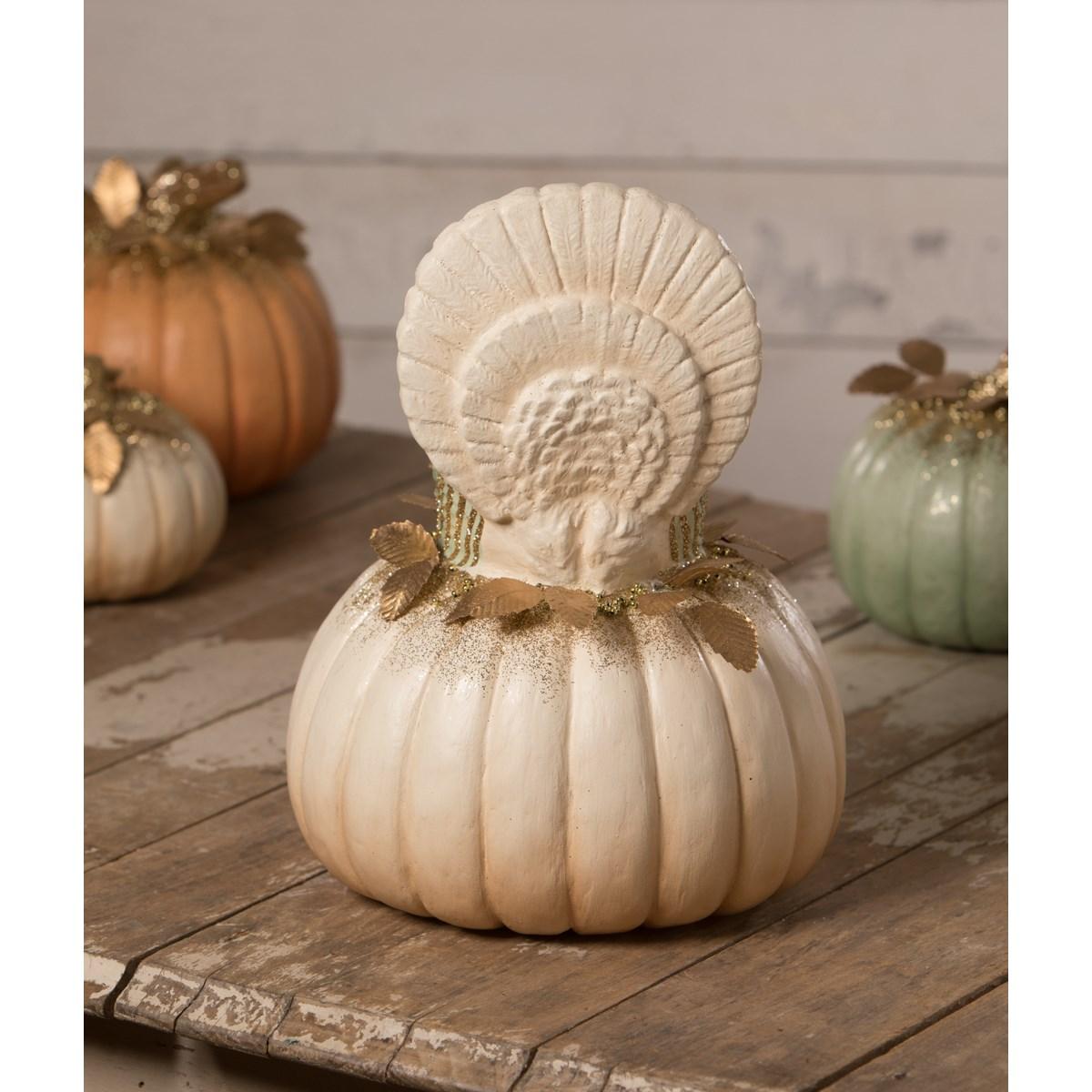 Elegant Turkey on Pumpkin