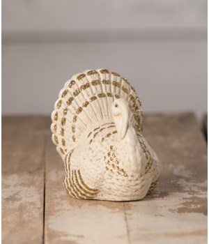 Romantic White Turkey Place Card Holder