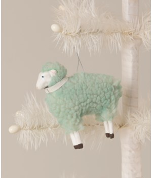 Pastel Blue Sheep Ornament