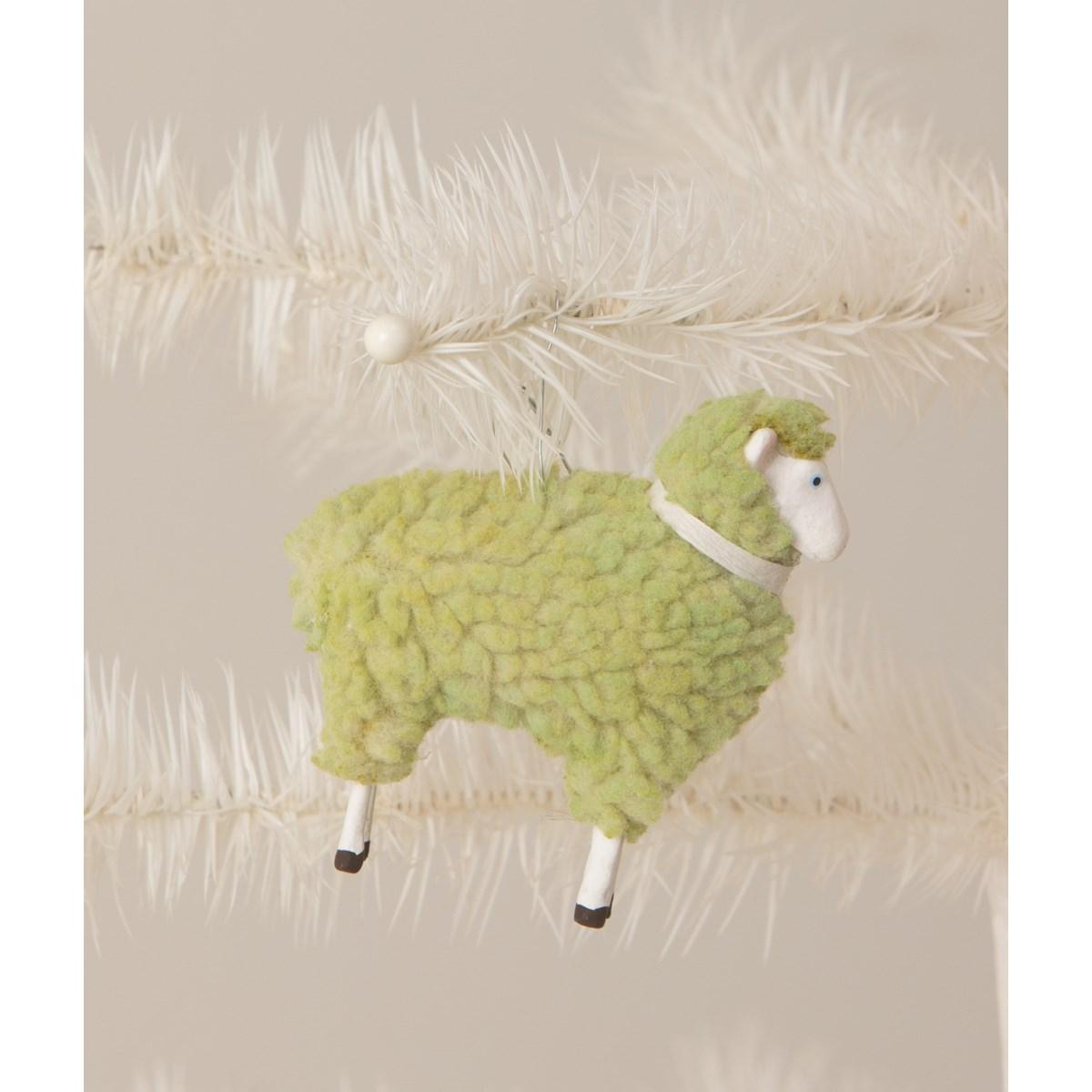 Pastel Green Sheep Ornament