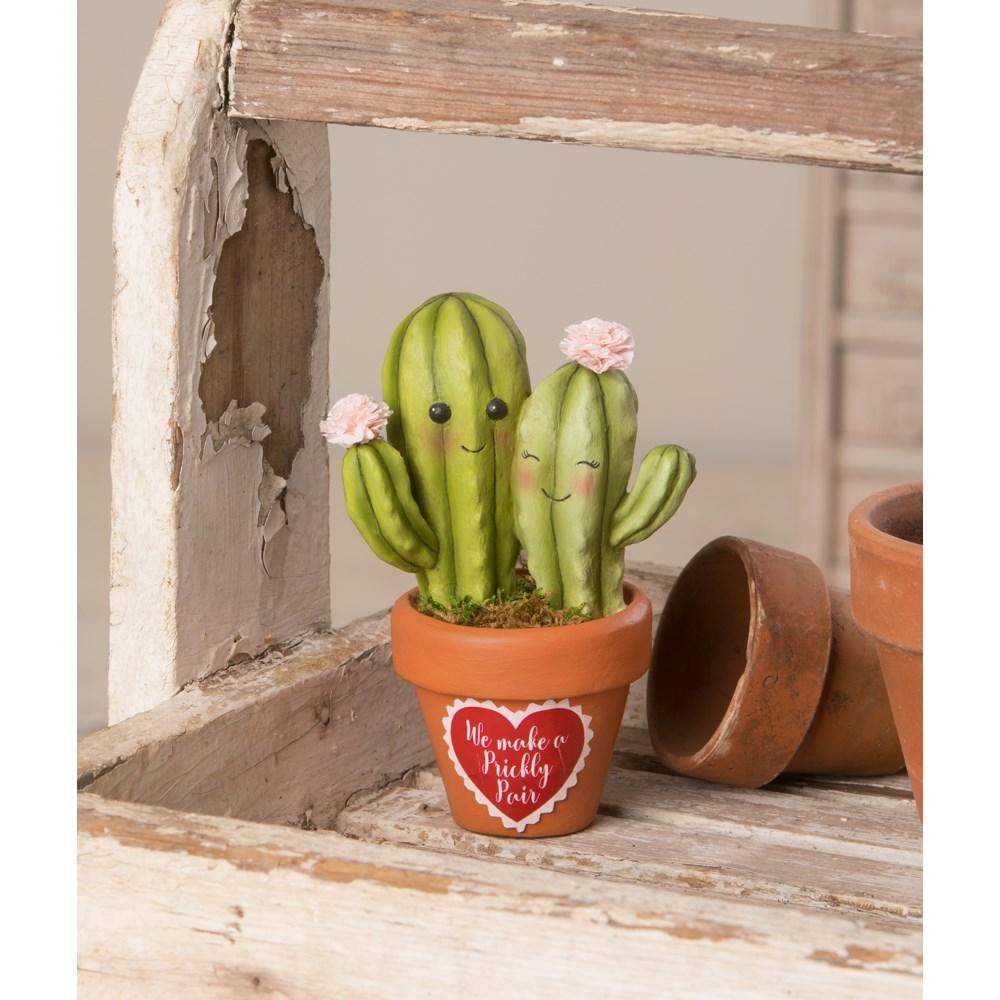 Valentine Prickly Pair Cacti