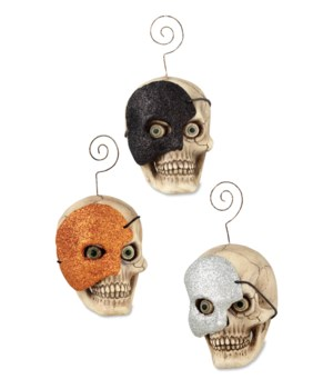 Skull With Mask Ornament 3A