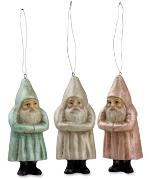Mini Pastel Belsnickle Ornament 3/A