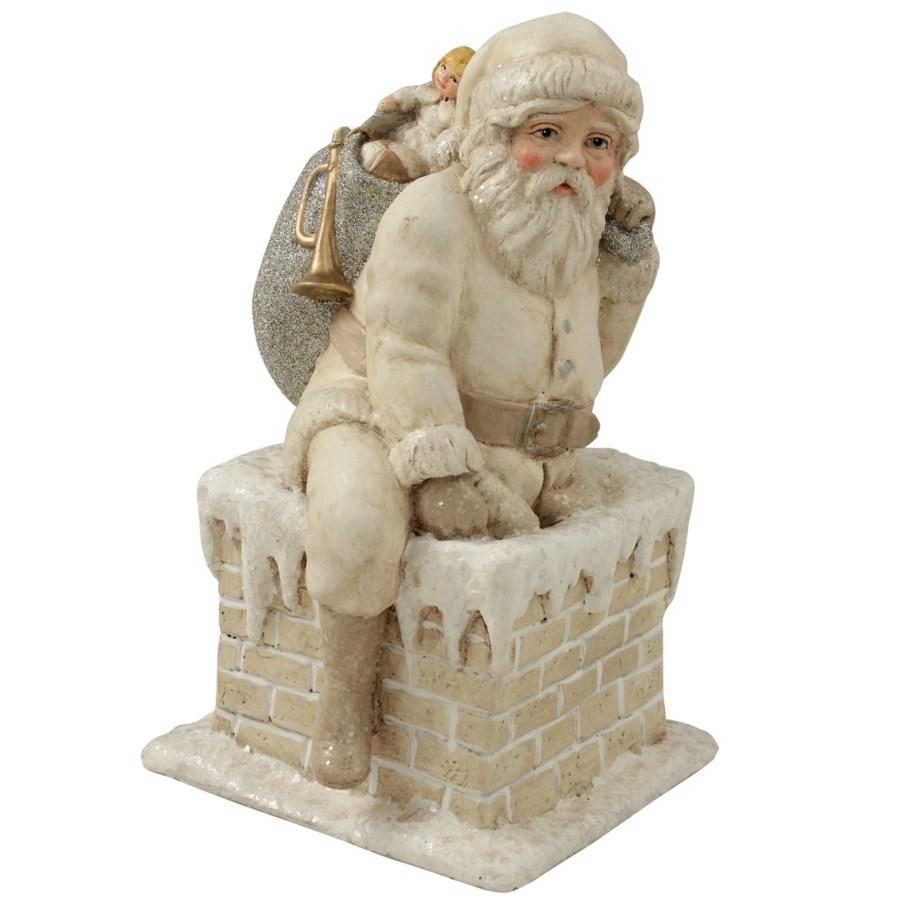 Ivory Santa in Chimney