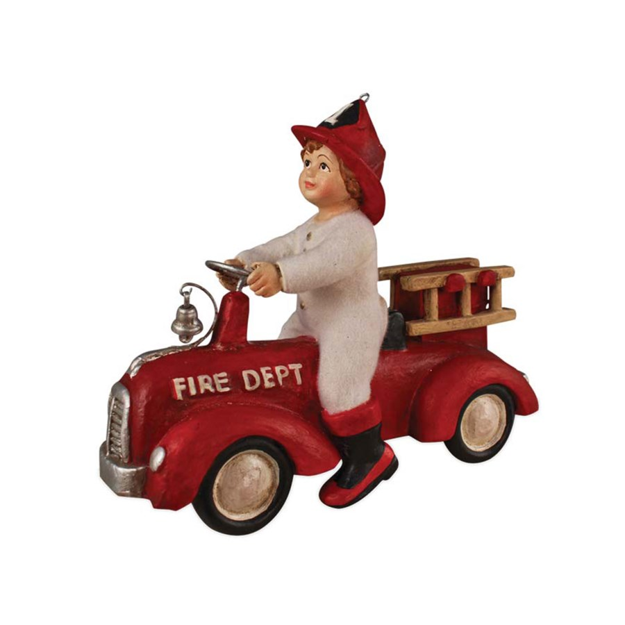Ethan on Fire Truck