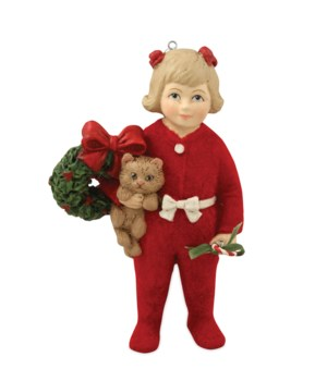 Ann With Kitten Ornament