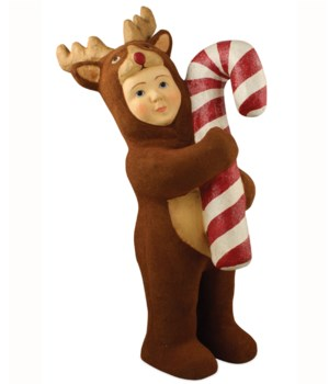 Nathan in Reindeer Costume Paper Mache Large