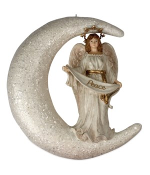 Peaceful Angel in Moon