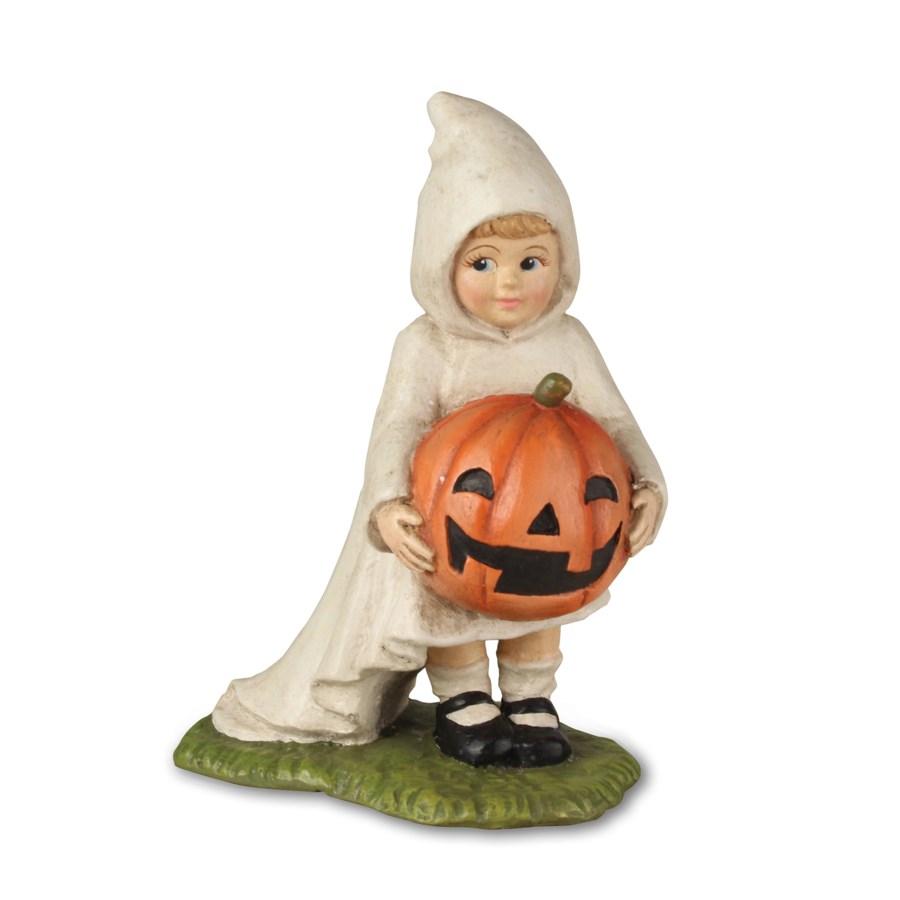 Little Ghost Gabby with Pumpkin