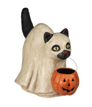 Ghost Cat Large Paper Mache