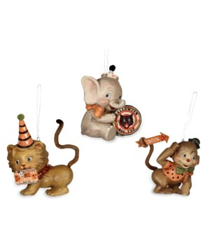 Halloween Big Top Animal Ornament 3/A
