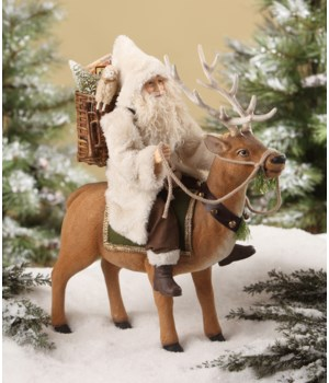 Woodland Santa on Reindeer