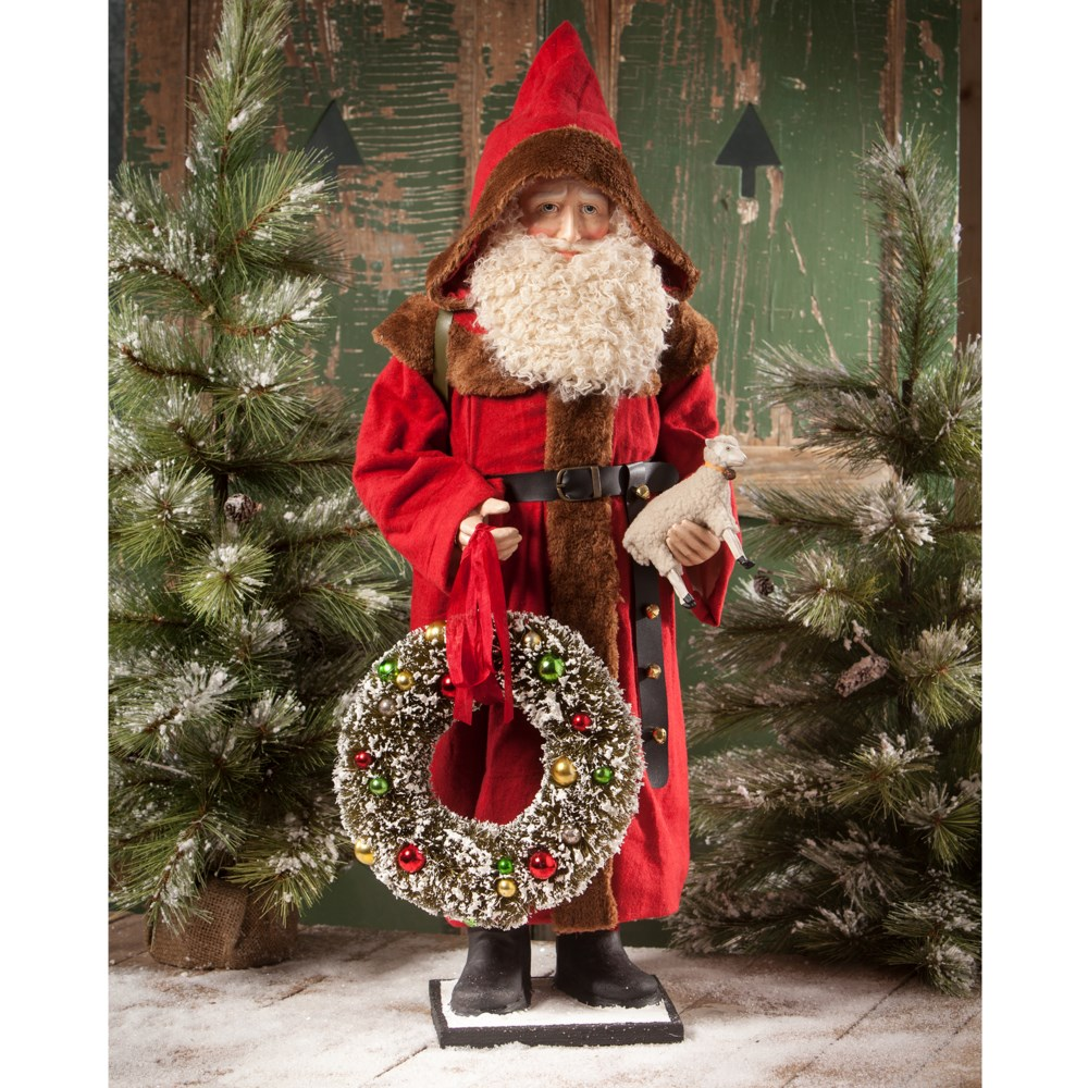 Father Christmas With Wreath