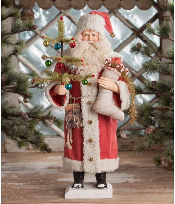 Vintage Santa With Stocking