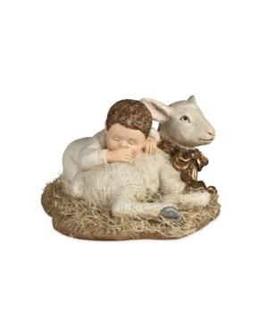 Sleeping Baby With Lamb