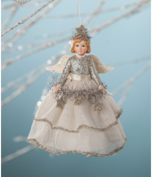 Platinum Storybook Angel Ornament