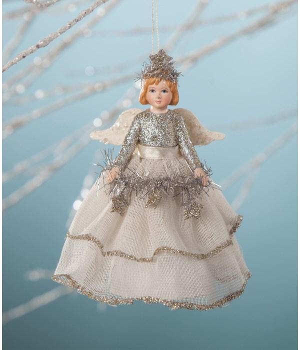 Platinum Storybook Angel Ornament