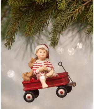 Wally in Wagon Ornament