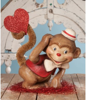 Monkey Love Large Paper Mache