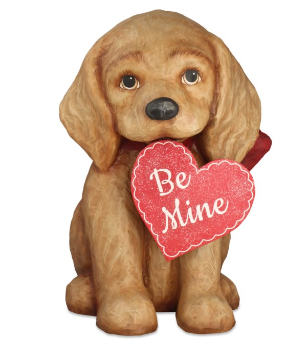 Be Mine Puppy Large Paper Mache