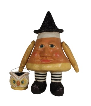 Candy Corn Charlie Large Paper Mache