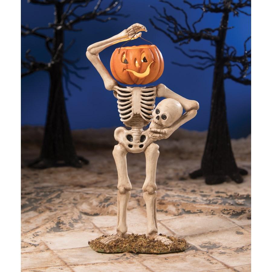 Pumpkin Bucket Head Skelly