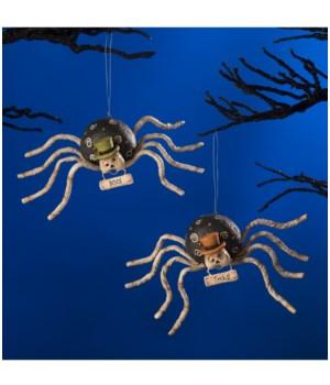 Mr. Bones Spider Ornament 2/A
