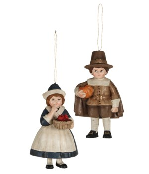 Thanksgiving Pilgrim Children Ornament 2/A