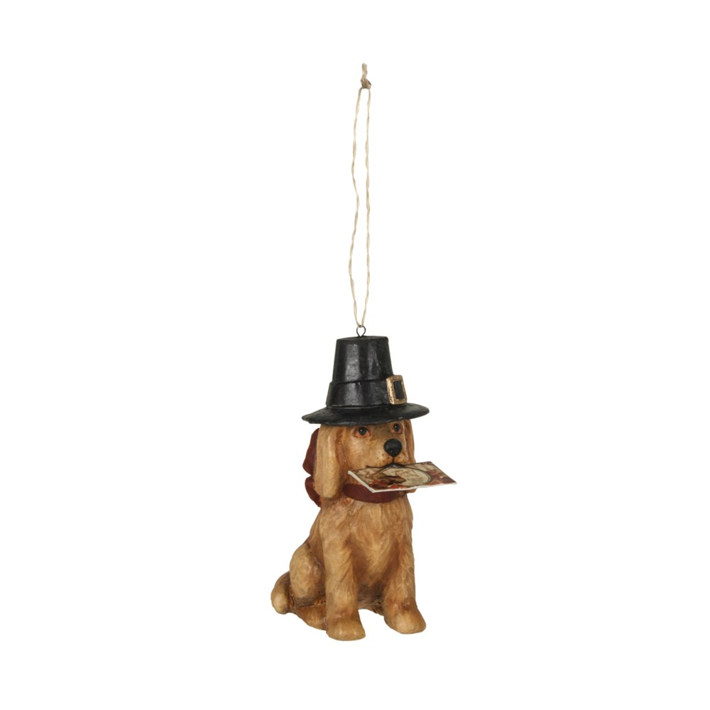 Thanksgiving Dog Ornament