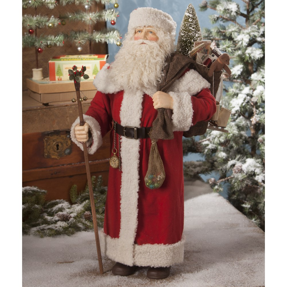 Santa With Bag of Toys Large