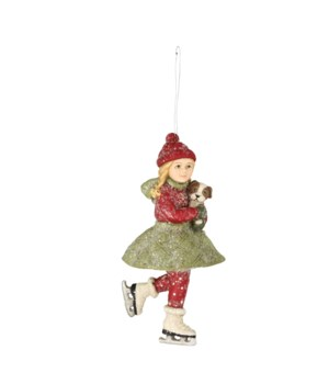 Skating Clare Ornament