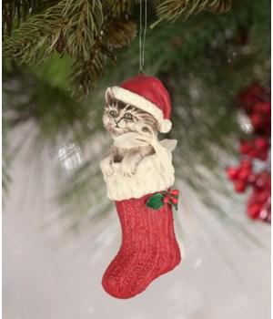 Santa Claws Stocking Ornament