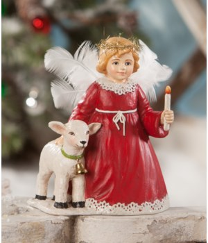 Traditional Angel With Lamb