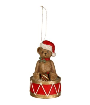 Teddy Bear on Drum Ornament