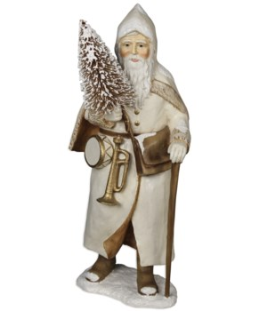 Ivory St. Nick With Walking Stick