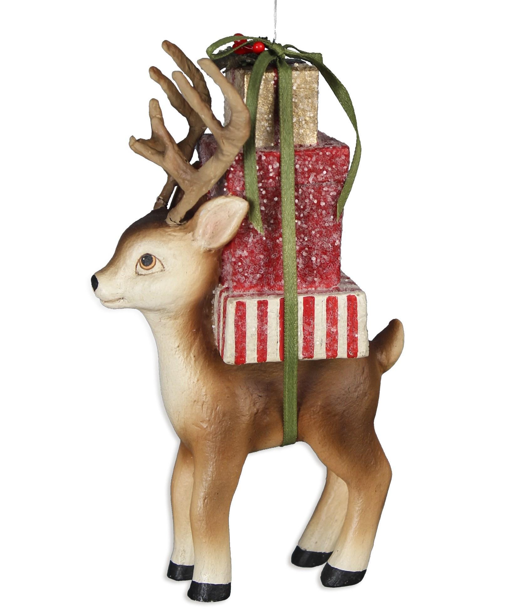 Bethany Lowe Designs Retro Reindeer Christmas Ornament