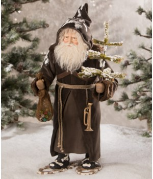 Woodland Santa on Snow Shoes