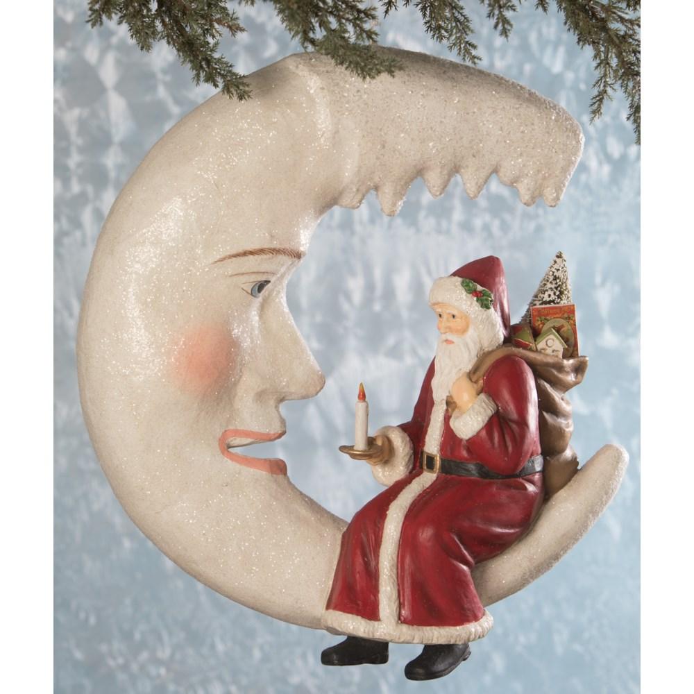 Santa on Icicle Moon