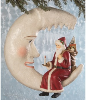 Santa on Icicle Moon