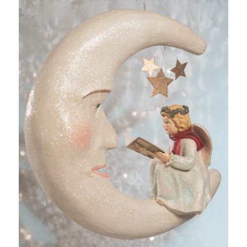 Storybook Angel on Moon Large